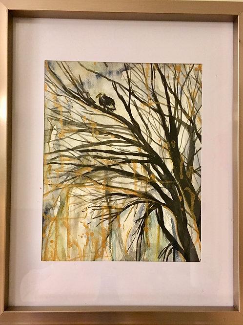 """Bald Eagle"" ~8.5""x10"" Watercolour Painting (Original)"