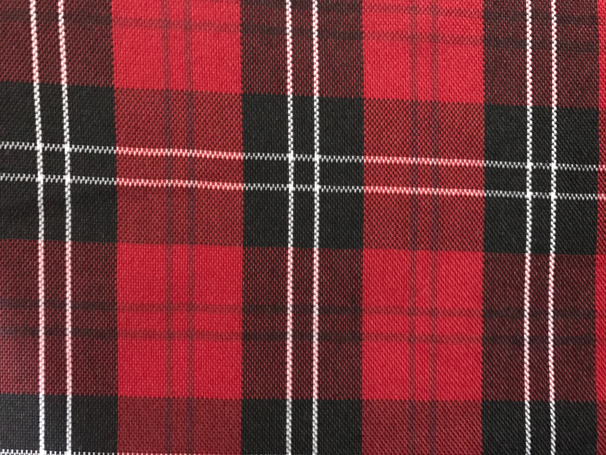Red, Black and White Plaid