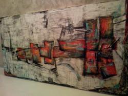 untitled | 220 x90cm | acrylic on th