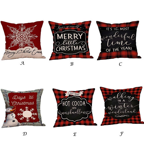 Traditional Christmas Pattern Cushion Cover