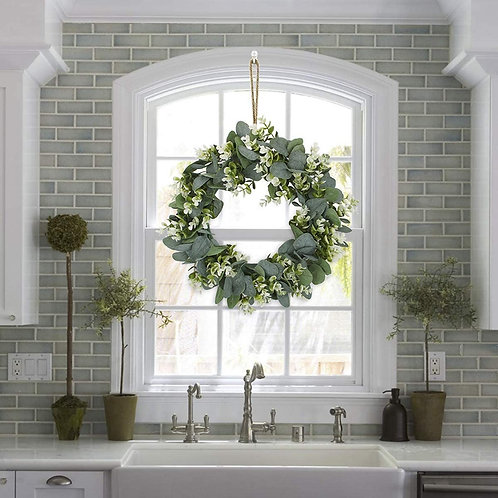 Artificial Green Foliage Christmas Wreath Garland Decoration