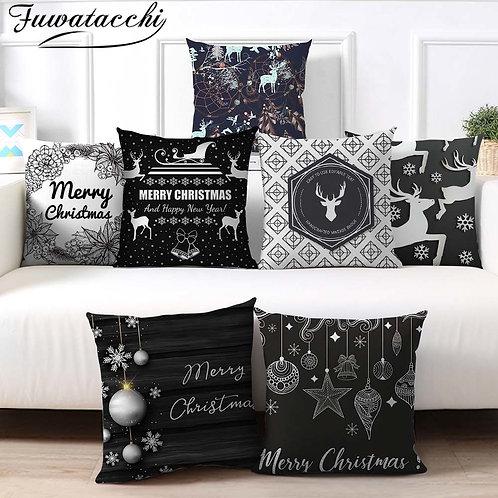 Modern Christmas Themed Cushion Case