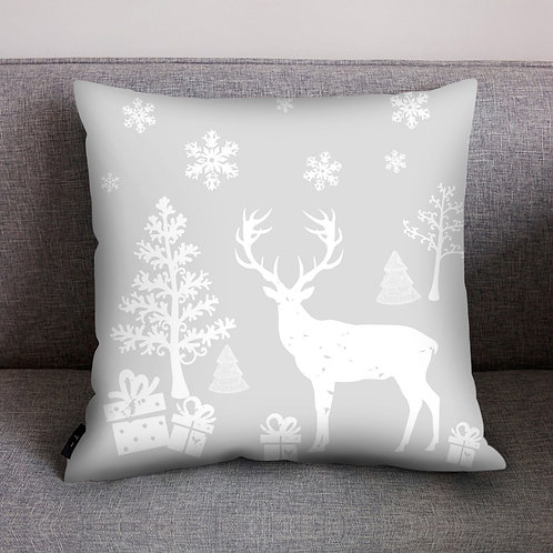 Contemporary Style Christmas Print Cushion Cover