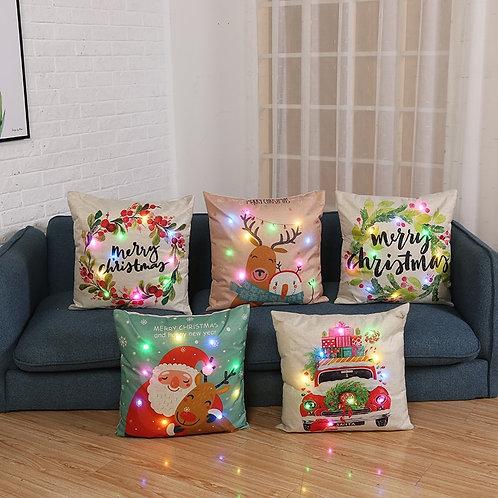 LED Christmas Cushion Case