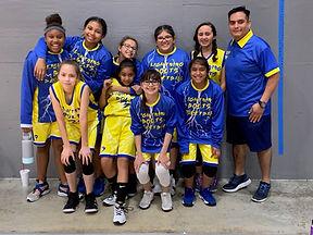 Custom Lightning Bolts girls basketball uniforms
