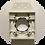 Thumbnail: Монтажная рамка для пневморозетки пластик белая с крышкой CANADA