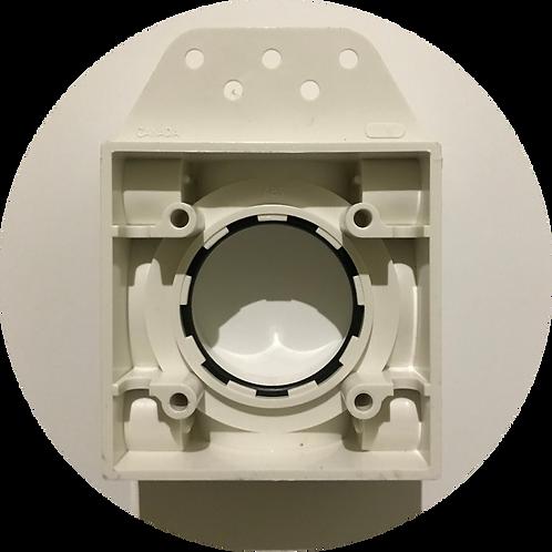 Монтажная рамка для пневморозетки пластик белая с крышкой CANADA