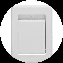 Пневморозетка S-klasse алюминий белая