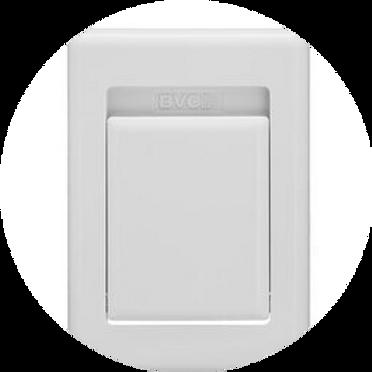 Пневморозетка S-klasse пластик белая