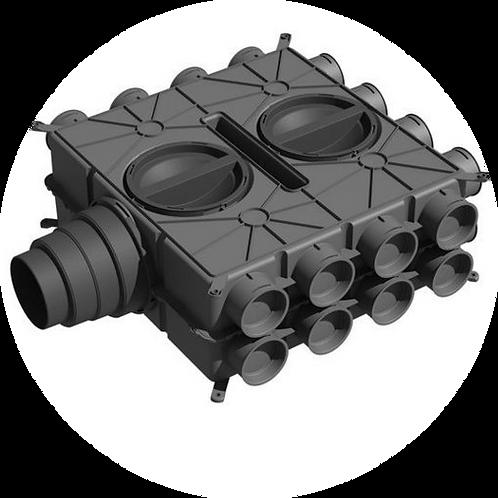 Коллектор, 16 подключений Ø75/63 мм.