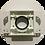Thumbnail: Монтажная рамка для пневморозетки пластик белая с крышкой