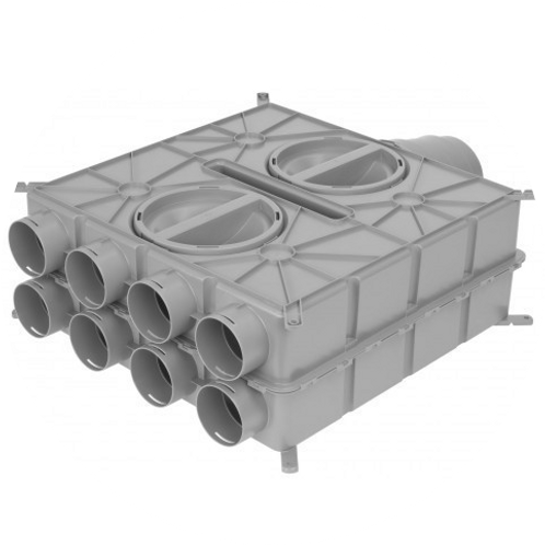 Коллектор, 8 подключений Ø75/63 мм.