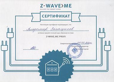 Сертификат № 1 Z-wave.jpg