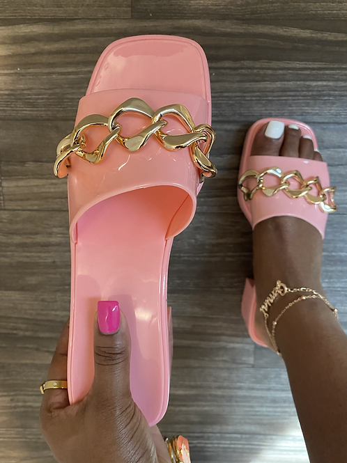Chained Barbie Sandals - PINK