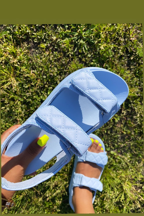 Spring Sandals- Icy Blue