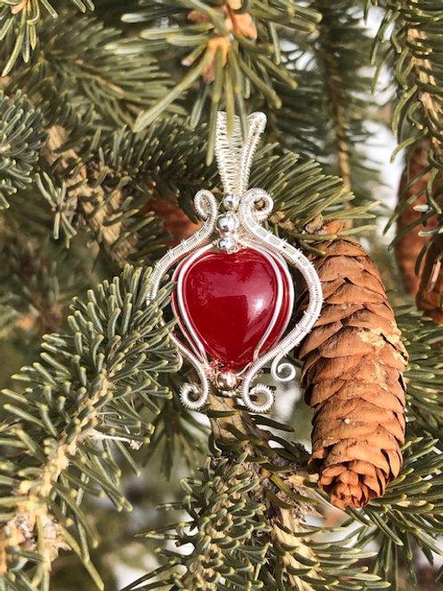 Red Malay Jade Heart