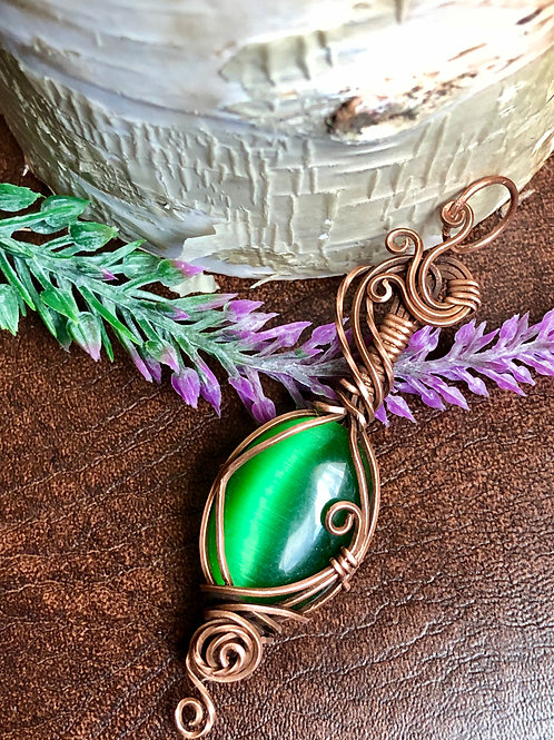 Green Cat's Eye Pendant