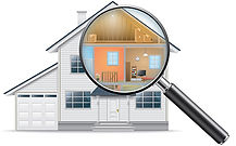 Magnifying Glass Giving a Cross-Section View of a Home | Roof Maintenance