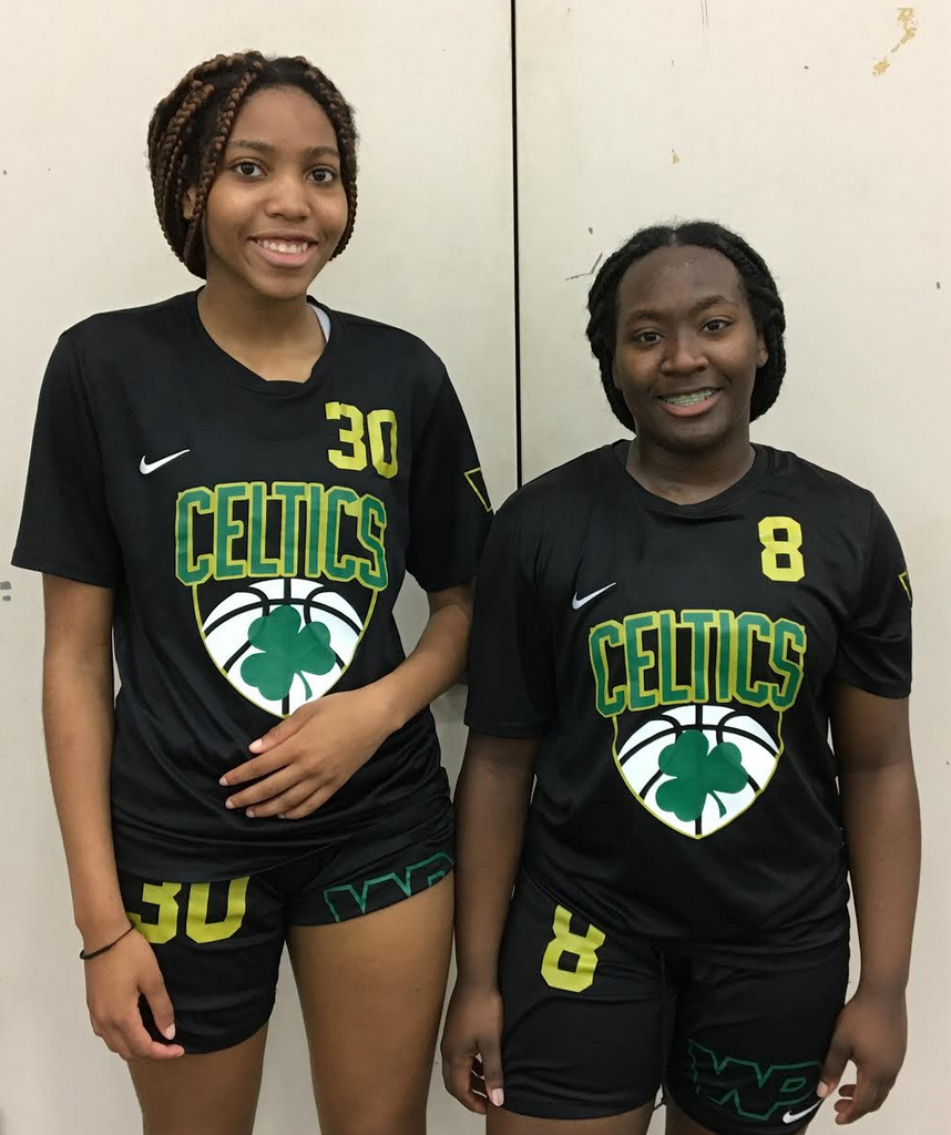 Jalisa Dunlap (#30) and Nya Valentine of Team Nard Celtics Gold (PC: Cristy McKinney)