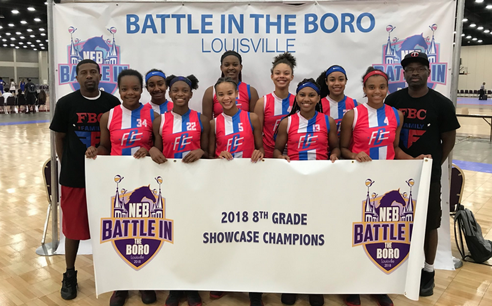 FBC The Family 2023, Battle in the Boro 2018 8th Grade Showcase Champions (PC: Bob Corwin)