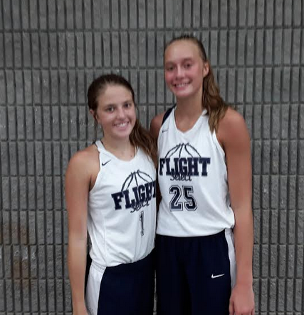 Tori Rutherford (#1) and Tessa Miller of Flight Select Silver 2021 (PC: Bob Corwin)