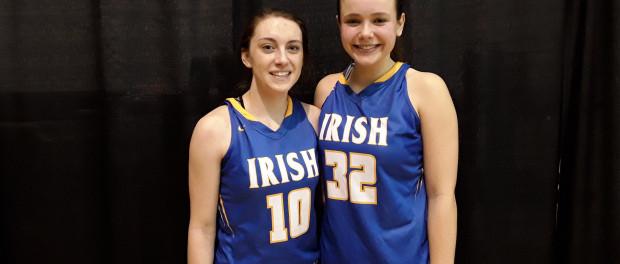 Dena Jarrells (#10) and Paige Shy of St. Joseph Central High School (PC: Bob Corwin)