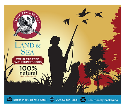 Henley Raw Dog Food, Land and Sea Deluxe 500g