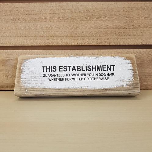 This establishment