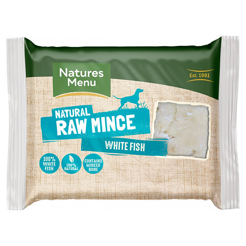 Natures Menu - Just White Fish Raw Mince for Adult Dogs - 400g