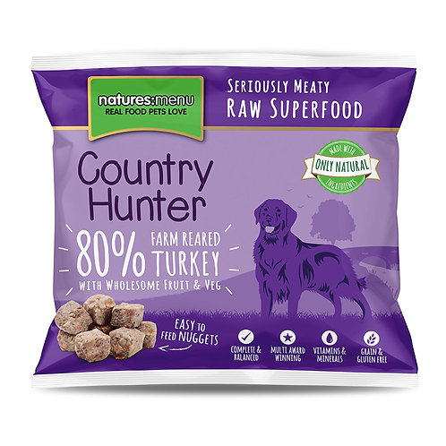 Natures Menu - Farm Reared Turkey Nuggets with Superfoods - 1Kg
