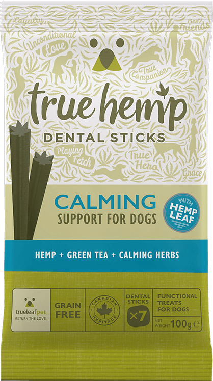 True Leaf Pet-True Hemp Dog Calming Dental Sticks