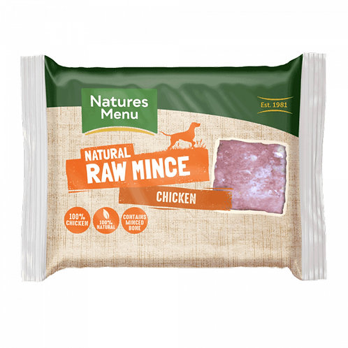 Natures Menu - Just Chicken Raw Mince for Adult Dogs - 400g