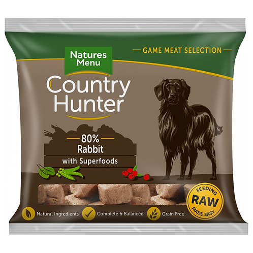 Natures Menu - Full-flavoured Rabbit Nuggets with Superfoods - 1Kg