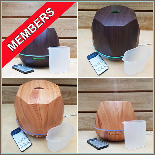 Members-Air Humidifier Diffuser 500ml - Plus 100ml BB Home Diffuser Concentrate