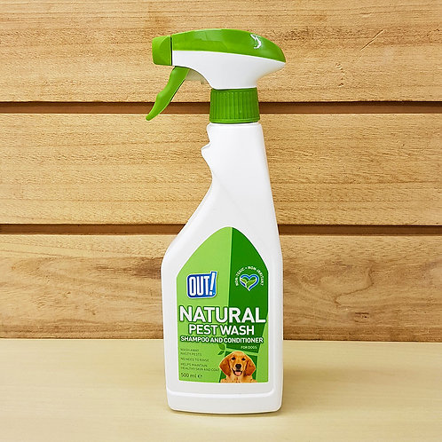 Out! Natural Pest Wash for Dogs - Shampoo and Conditioner - 500ml