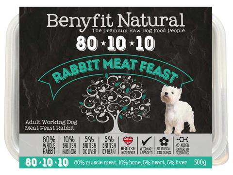 Benyfit Natural - 80*10*10 - Rabbit Meat Feast - 500g