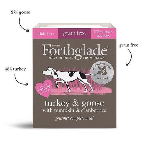 Gourmet turkey & goose natural wet dog food with pumpkin & cranberries-395g