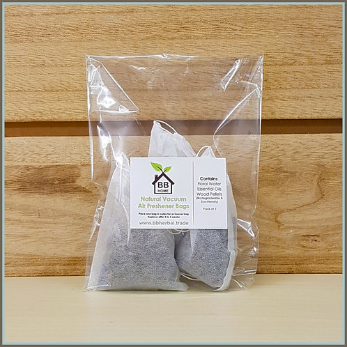 BB Home - Natural Vacuum Air Freshener Bags x 3