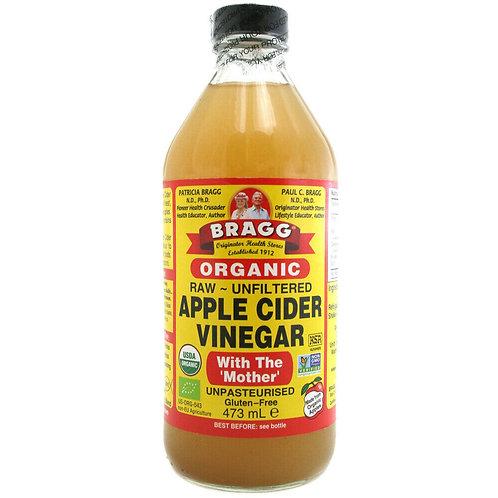 Bragg Organic Raw Unfiltered Apple Cider Vinegar With The 'Mother' - 473ml