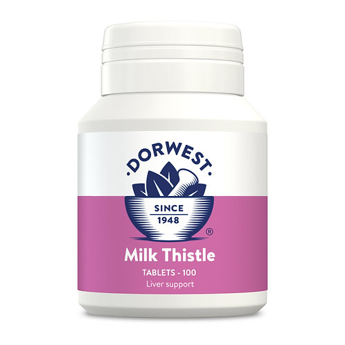 Dorwest Milk Thistle Tablets - 100's - Dogs & Cats