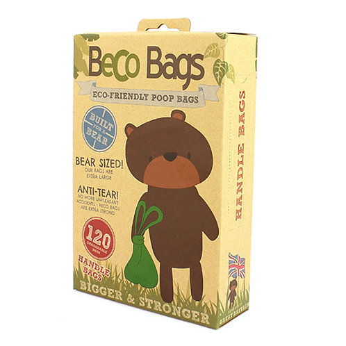 BecoPets Unscented Degradable Handle Poop Bags
