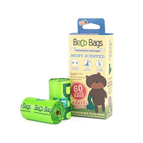 BecoPets Mint Scented Degradable Poop Bags