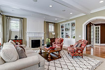 Arlington VA contemporary family room