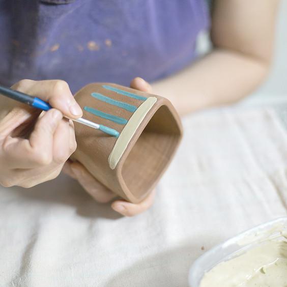 Tween Pottery Glazing Workshop