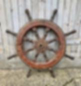 Genuine authentic antique Ships wheels p