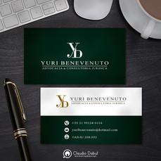 Cartão corporativo para o advogado Yuri Benevenuto.