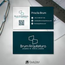 Cartão corporativo para a empresa Brum Arquitetura.
