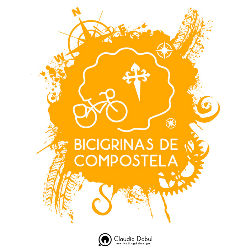 Criação de logo para o grupo de ciclismo Bicigrinas de Compostela.