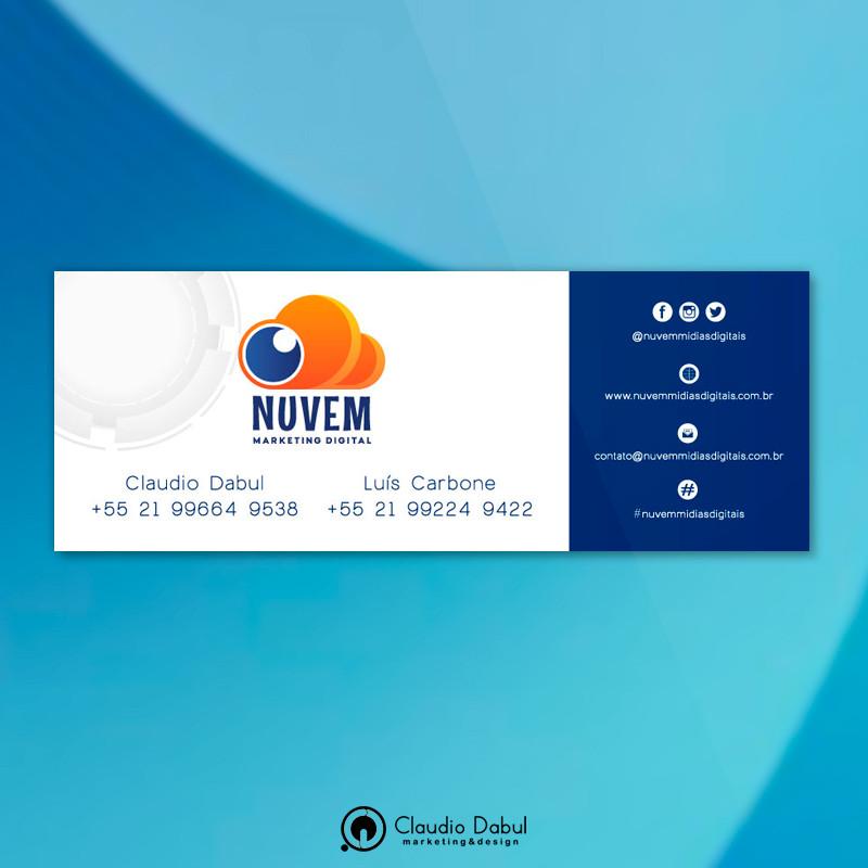 Assinatura de e-mail para a empresa Nuvem Mídias Digitais.