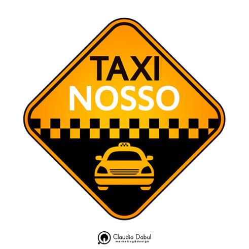 Criação da logo para a empresa de taxi Taxi Nosso.